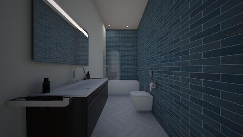 Guest GreenBlue Bathroom - Rustic - Bathroom  - by jaiden2006