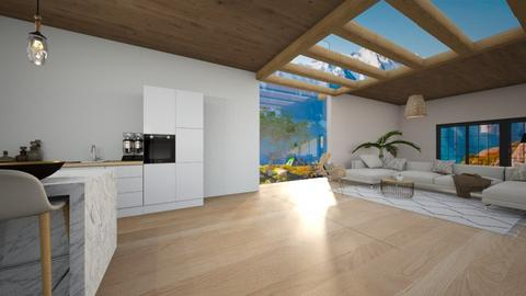 living with glass roof - Living room  - by Amy Robberts