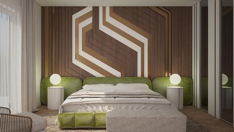green bedroom - Modern - Bedroom  - by wijesinghe
