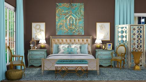 Turquoise Metal Bedroom - Bedroom - by jjp513