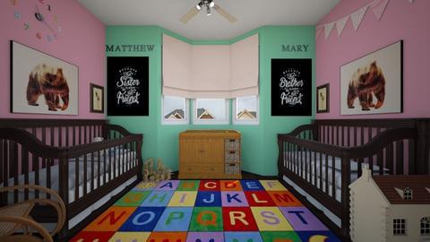 Twins Nursery - Kids room  - by SammyJPili