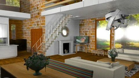 DoubleHeightLiving - Modern - Living room  - by camilla_saurus