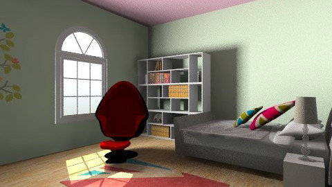 shic bedroom - Retro - Bedroom  - by Hell yeh2