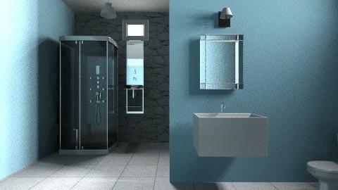 blue - Minimal - Bathroom  - by Jen Guerra