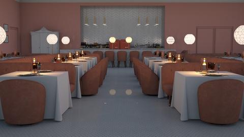 Rose Pink Restaurant - Vintage - Dining room  - by HenkRetro1960