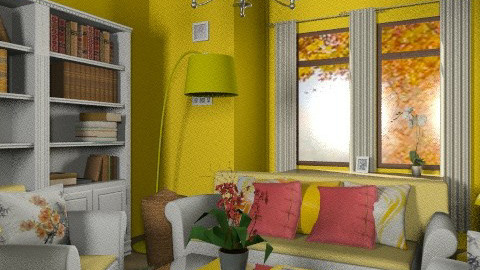 Yellow Garden Room - Country - Living room - by natural11