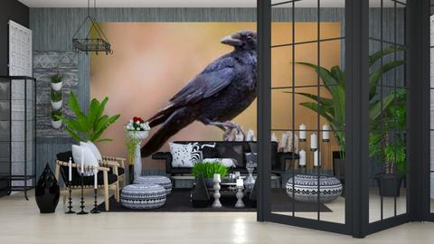 Guardian Crow - Living room  - by Feeny