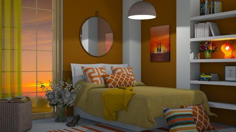 Autumn Pattern Bedroom - by neide oliveira