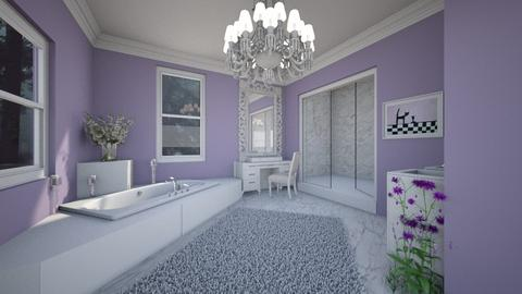 Lavender Bathroom - Country - Bathroom  - by kristenaK
