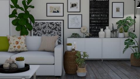 Art and plants - Living room - by Tuija