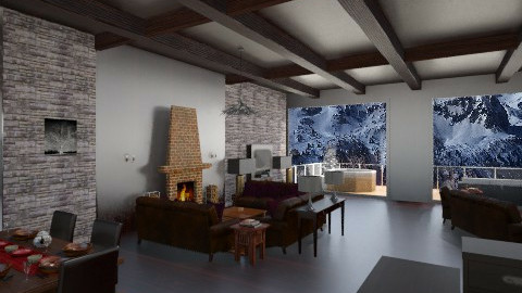 Mountain_Hut - Rustic - Living room - by Gre_Taa