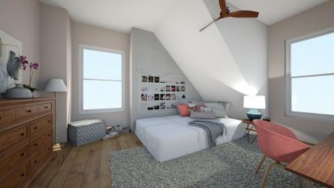 teen girl room - Bedroom - by mollyymaryy