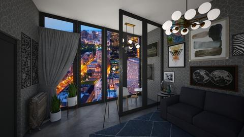 city at nite - Living room - by heynowgregory