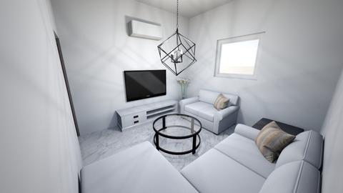 My_Flat - Living room  - by ahmed aboelnas