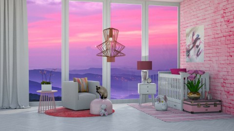 Ombre Nursery - Modern - Bedroom  - by bgref