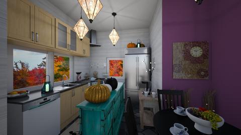 Autumn kitchen - Eclectic - Kitchen  - by ziva mae