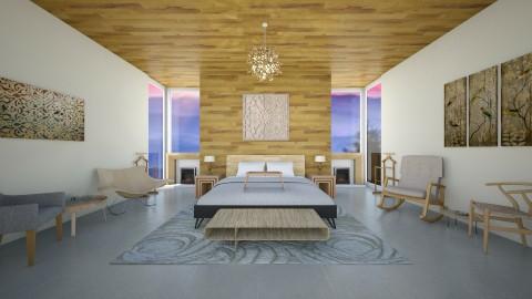 Wood Bedroom - Bedroom - by bschreiber95