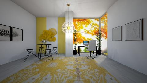 Yellow Work Room - Office  - by Skwood