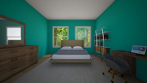 teal neutral bedroom - Bedroom  - by 0955506