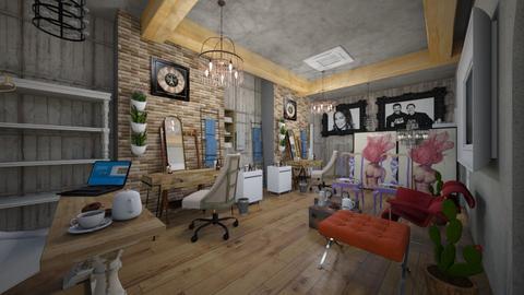 Barbers_Hair_Salon_Creation_ - Vintage - Living room - by Nikos Tsokos