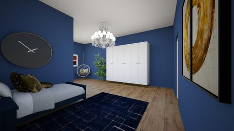 Navy and Gold - Bedroom  - by khayla simpson