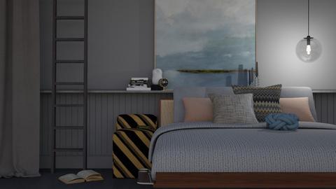 Quite Grey Bedroom - Modern - Bedroom  - by HenkRetro1960