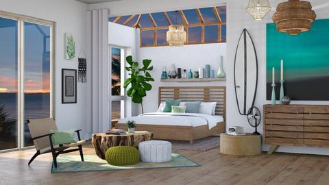 Sea Glass Bedroom - Bedroom  - by KCAD