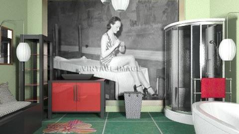 Green - Modern - Bathroom  - by milyca8
