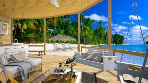 Tropical beach house1 - by XValkhan