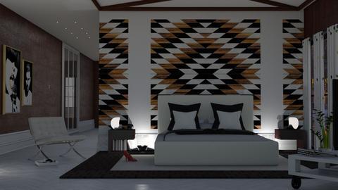 modern bedroom - by nat mi