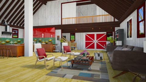 Barn Makeover - Eclectic - Living room  - by giulygi