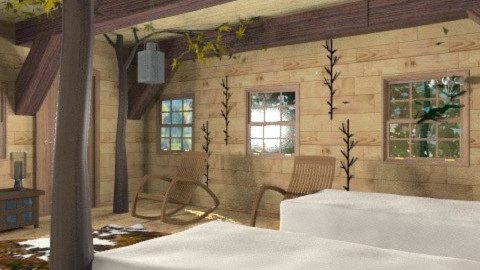 tree house - Rustic - Bedroom  - by auntiehelen