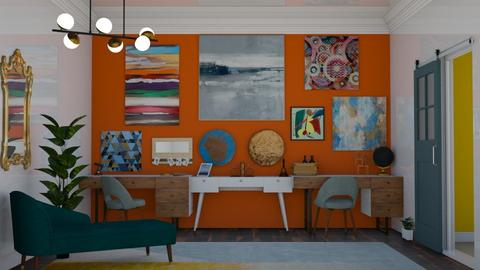 Double Office - Eclectic - Office - by laurenpoisner