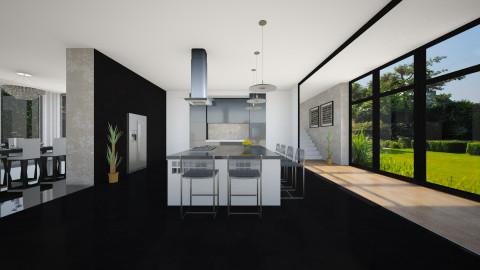 Cozinha Black - Kitchen  - by Sanare Sousa