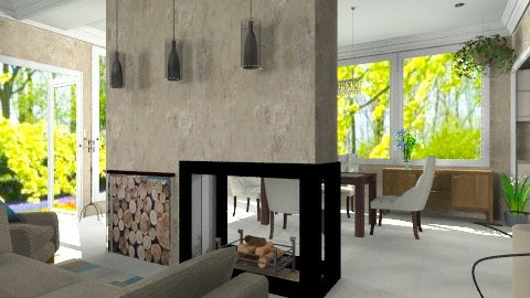 In the middle - Modern - Living room  - by Bibiche