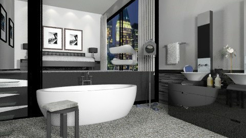 Masculine  - Modern - Bathroom  - by AlSudairy S