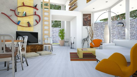 Valentinapenta - Living room  - by russ