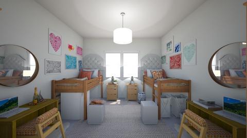 Henley Dorm Room - Eclectic - Bedroom - by marymbarbee
