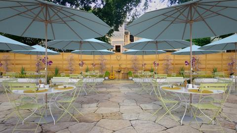 courtyard cafe - Garden  - by russ