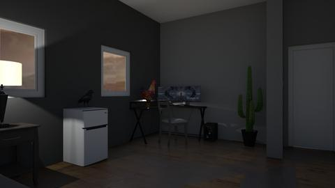 a bed room in a weird house - Bedroom  - by GabrielRGutierrez