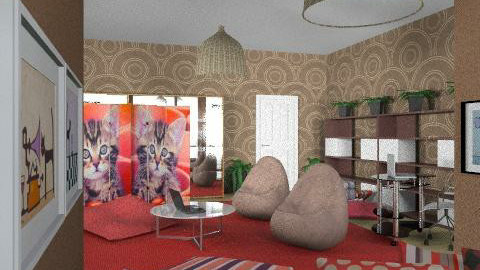 cats studio - Eclectic - Living room  - by chania
