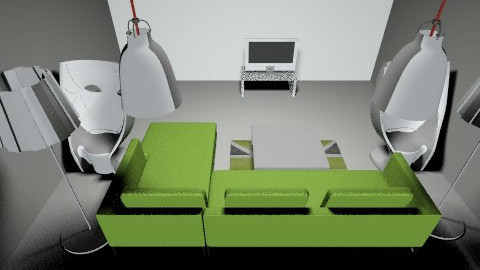 WHITE and GREEN house - Modern - Living room - by fluffybear