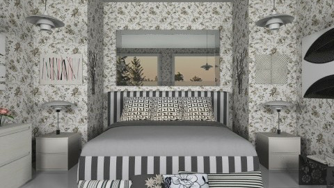 Black And White - Modern - Bedroom - by Luisy