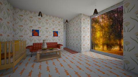 orange baby room - by wassp
