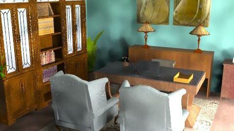Green office - Retro - Office  - by nilajean