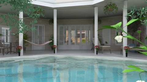 House with a pool - Modern - Garden  - by Bibiche