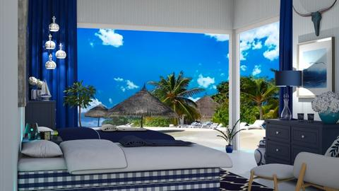 beach bedroom - Bedroom  - by nat mi