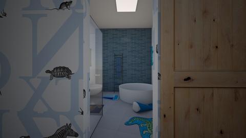 Zen_kids bathroom - Bathroom  - by lovasemoke