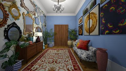 maximalist hallway - by Themis Aline Calcavecchia