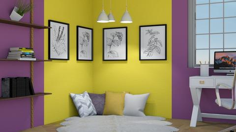 Purple and yellow - by FANGIRLdesigner